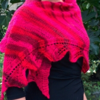 Autumn Leaves shawl by La Visch Designs