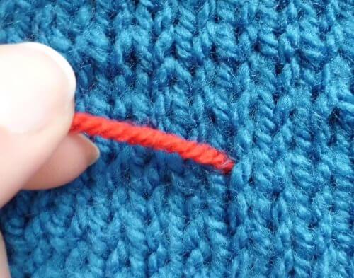 Duplicate Stitch Tutorial La Visch Designs