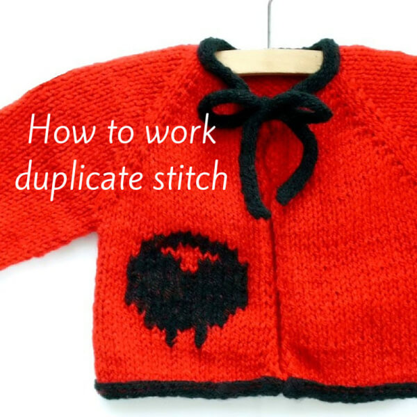 How to work duplicate stitch