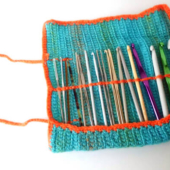 Roll it up & go crochet hook case by La Visch Designs