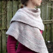 the easy going shawl by La Visch Designs