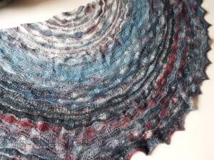 stormy seas shawl by La Visch Designs