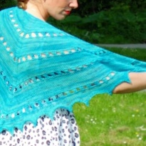 zomer zilt shawl by La Visch Designs