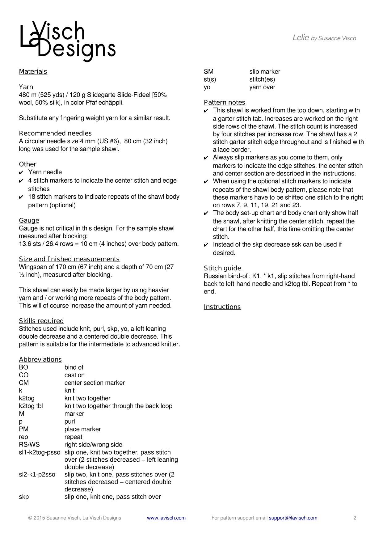 data page lelie shawl