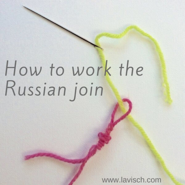 Knitting Russian Join Tutorial : Making a russian join la visch designs