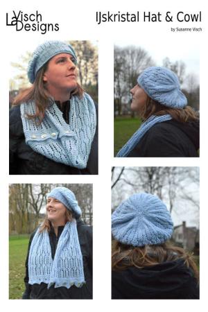 IJskristal hat & cowl set ebook by La Visch Designs