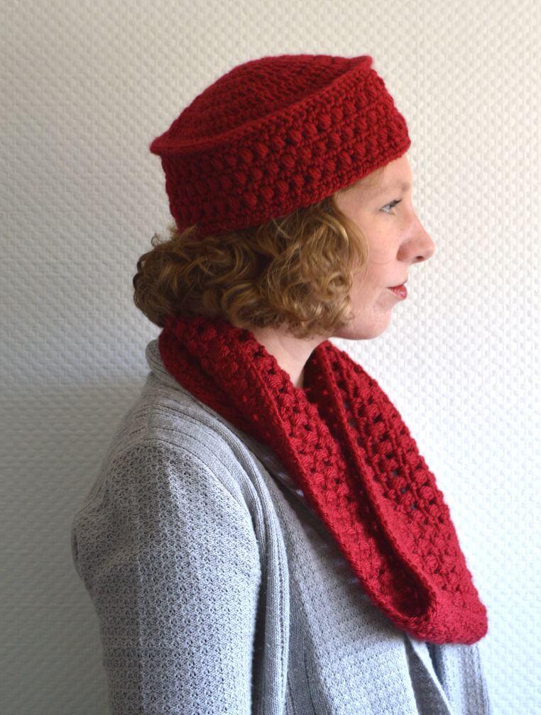 efa18edc7c481 paris pillbox hat & cowl - La Visch Designs