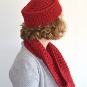 paris pillbox & cowl by La Visch Designs