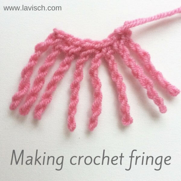 Making crochet fringe - a tutorial by La Visch Designs