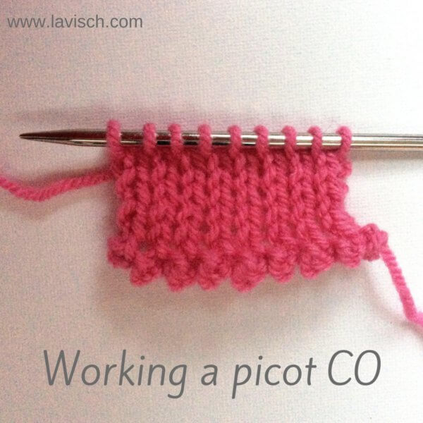 Working a picot cast-on - a tutorial by La Visch Designs