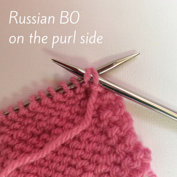 Tutorial Russian bind-off on the purl side by La Visch Designs