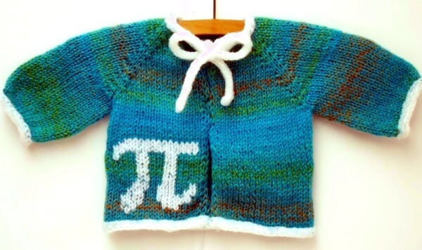 Sweet as Pi Baby Cardigan