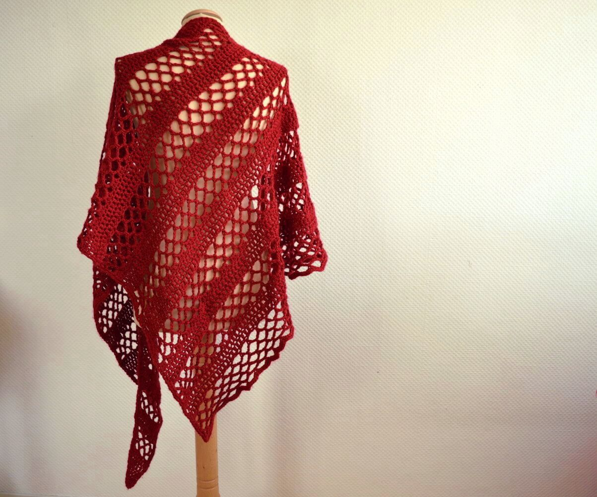 asymmetrical wedge shawl