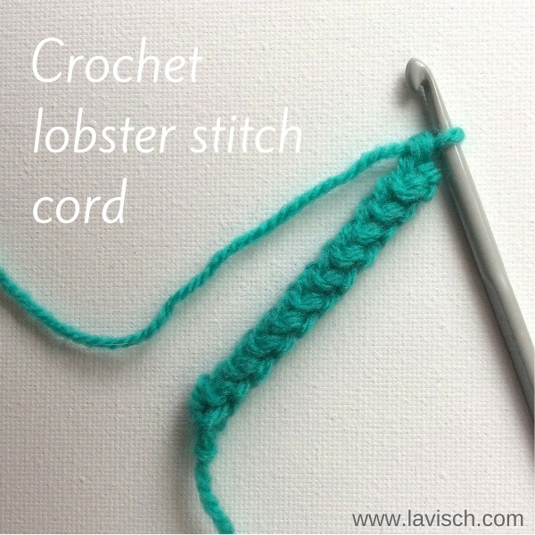 Lobster stitch cord tutorial by La Visch Designs