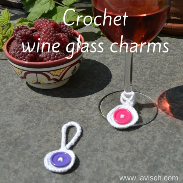 free pattern - wine glass charms