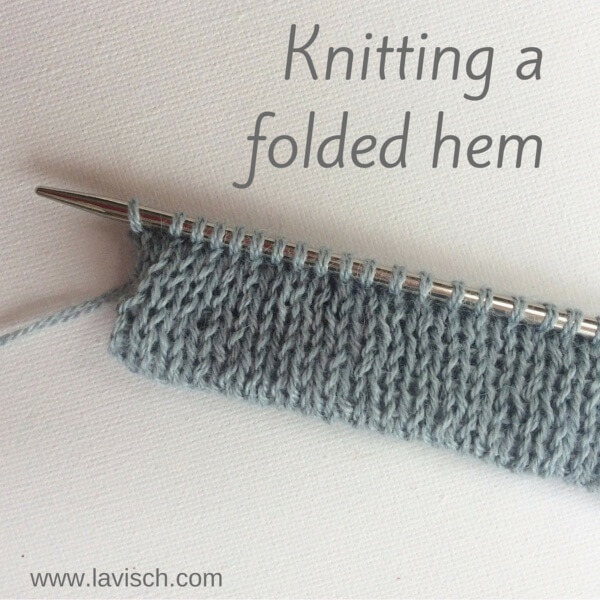 tutorial: knitting a folded hem