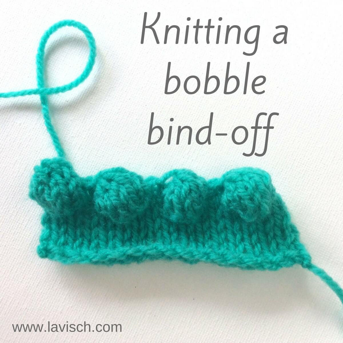 Tutorial: Knitting A Bobble Bind-off