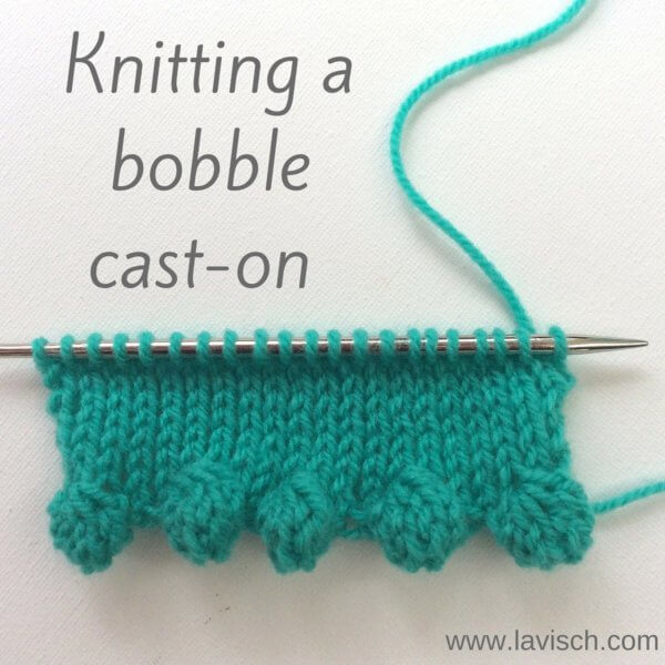 tutorial: knitting a bobble cast-on