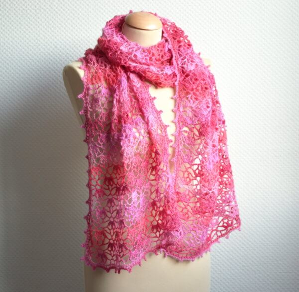 Cherry Blossoms Stole by La Visch Designs