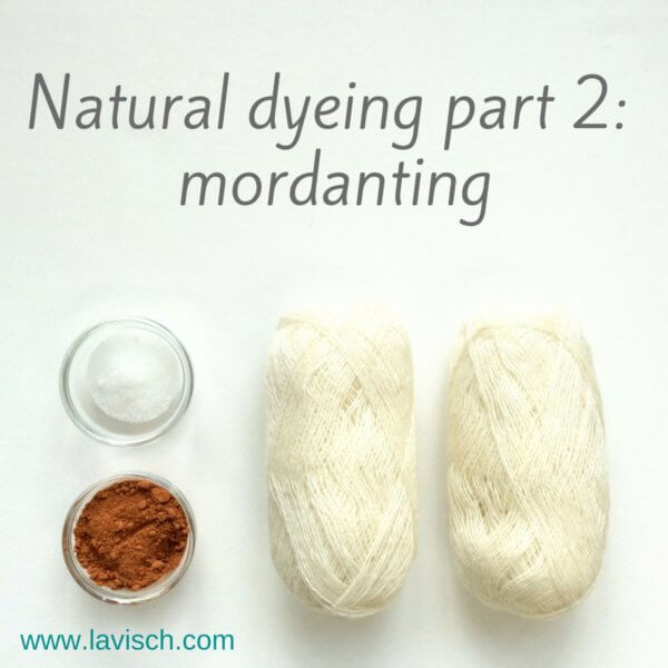 Dyeing with natural dyes - mordanting, a tutorial by La Visch Designs