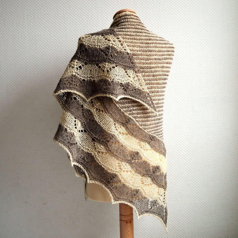 Bichrome shawl