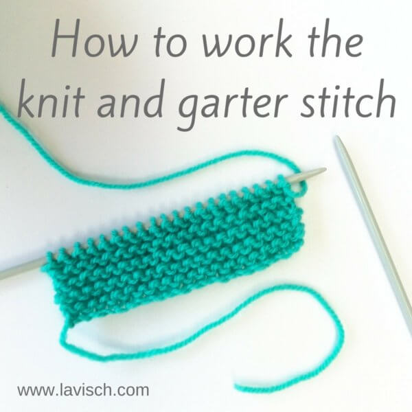 how to work the knit and garter stitch
