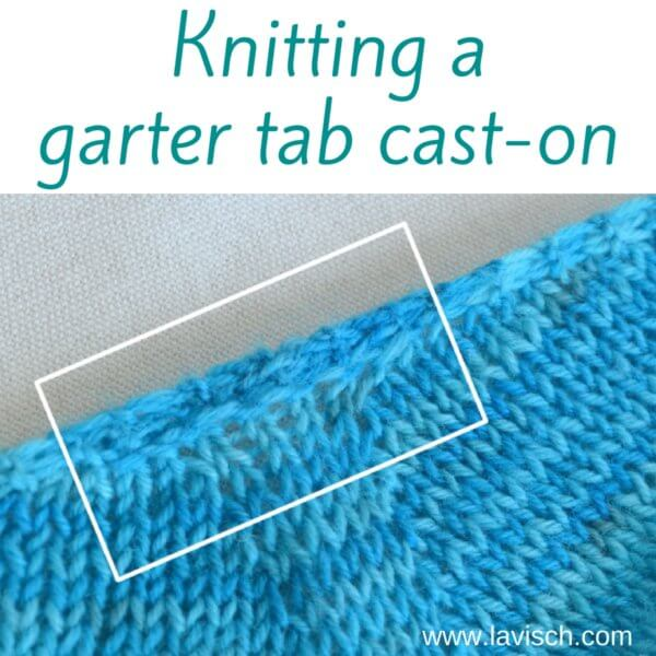 garter tab cast on tutorial