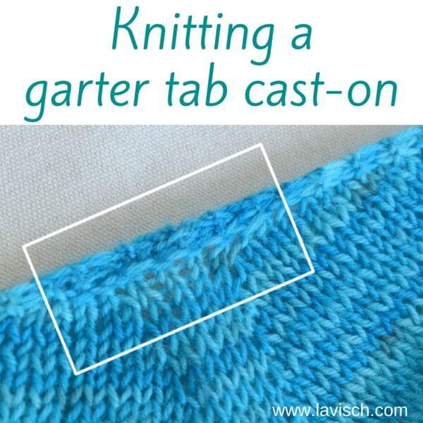 garter tab cast on tutorial