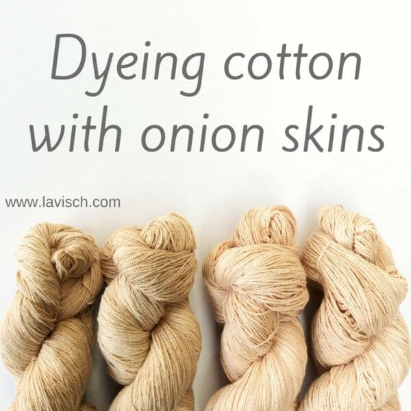 Dyeing cotton with onion skins - a tutorial by La Visch Designs