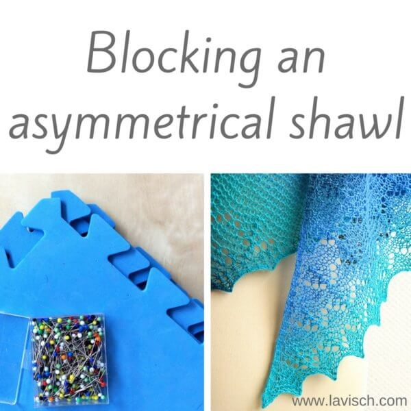 blocking an asymmetrical shawl
