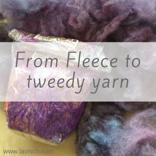 from fleece to tweedy yarn