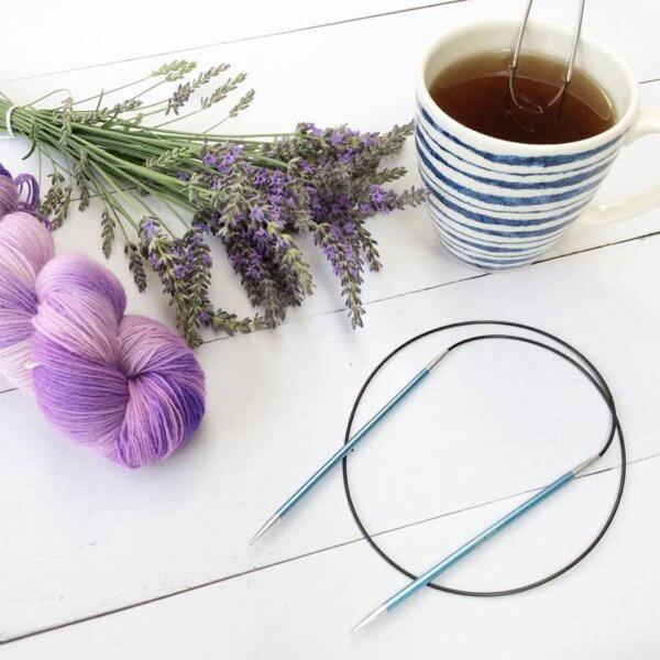 Lavender, yarn and tea