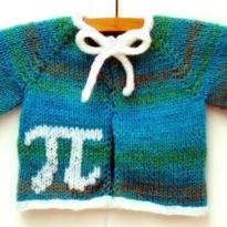 sweet as pi baby cardigan by La Visch Designs