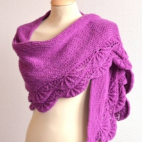 schelp shawl by La Visch Designs