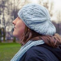 ijskristal slouchy hat by La Visch Designs