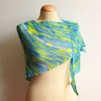 a shawl design by La Visch Designs