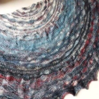 stormy seas shawl by La Visch Designs