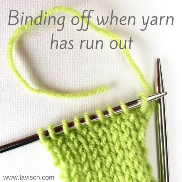 tutorial: binding off when yarn has run out