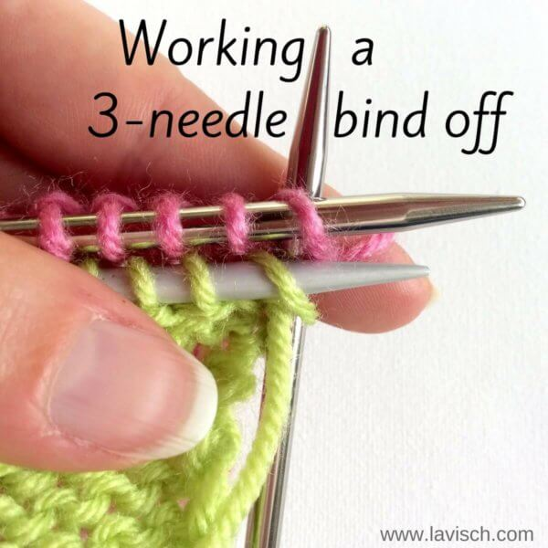 tutorial: 3-needle bind-off