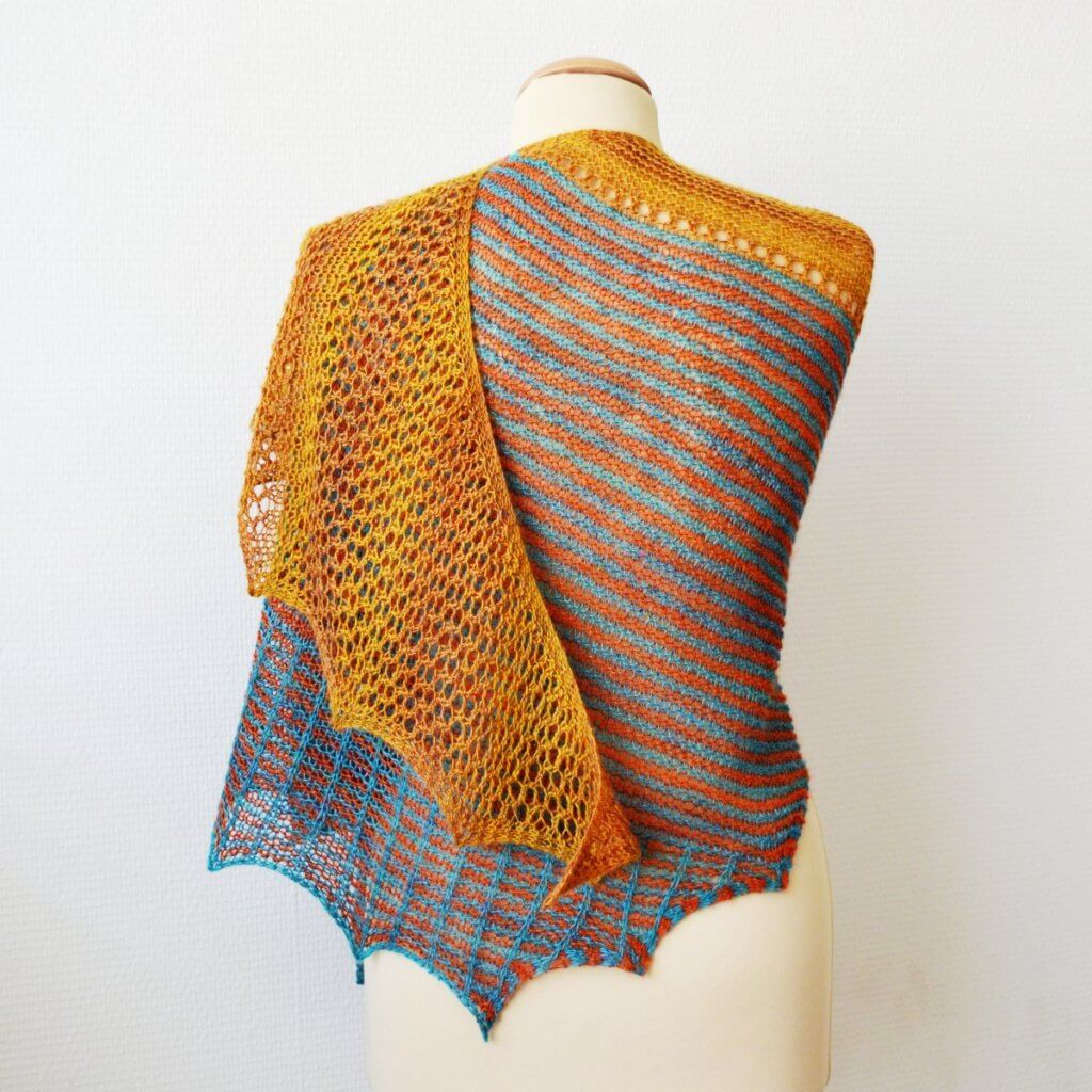 Honey & Stripes shawl