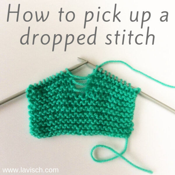 tutorial - how to pick up a dropped stitch