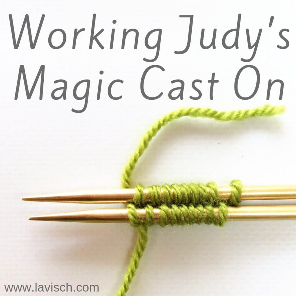 Working Judy's Magic Cast On - a tutorial by La Visch Designs