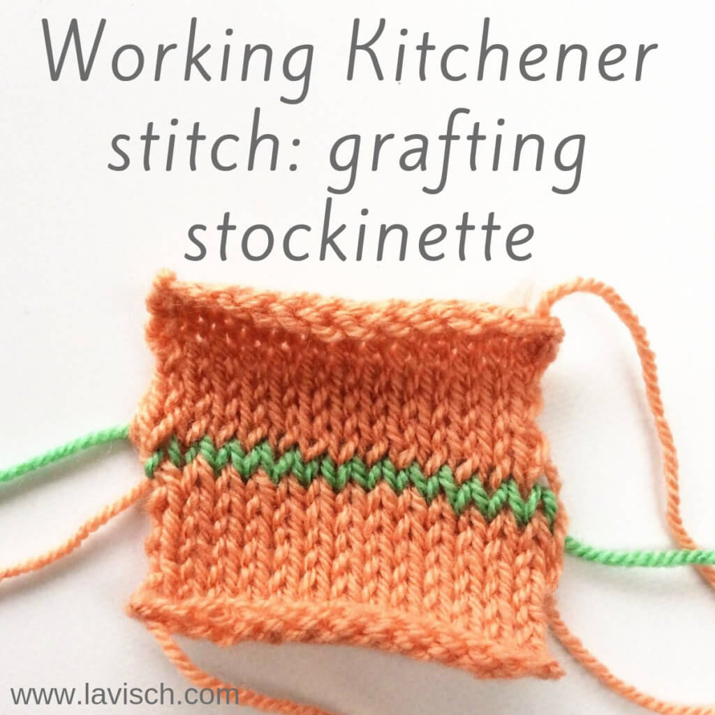 Tutorial Kitchener stitch: grafting stockinette