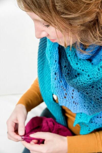 La Visch knitting