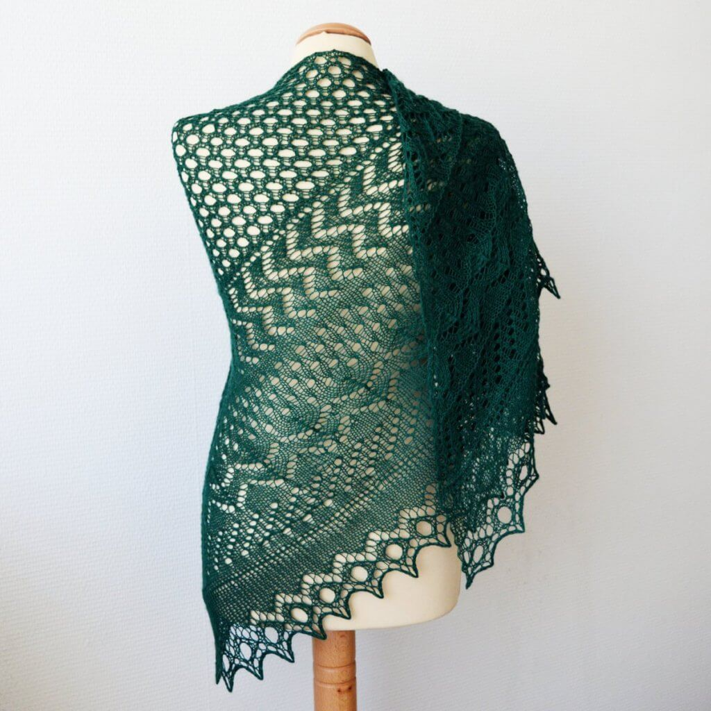 Half Fade Hap in green