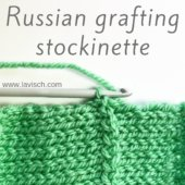 tutorial - Russian grafting stockinette