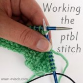 tutorial - working the ptbl stitch