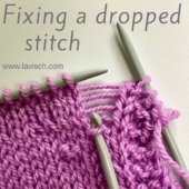 tutorial - fixing a dropped stitch