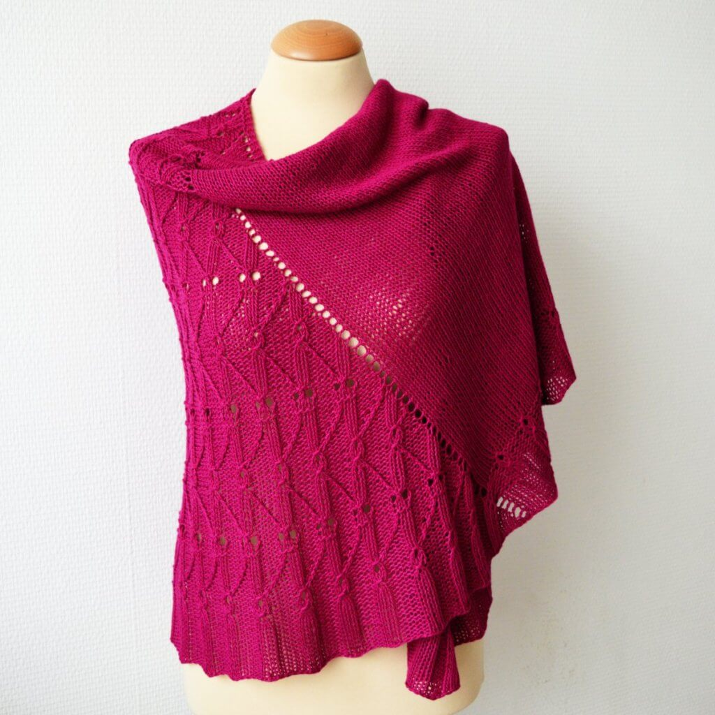Think Pink shawl - a design by La Visch Designs