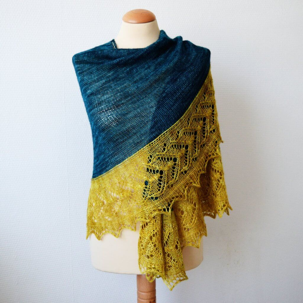 Sunglow Forest shawl